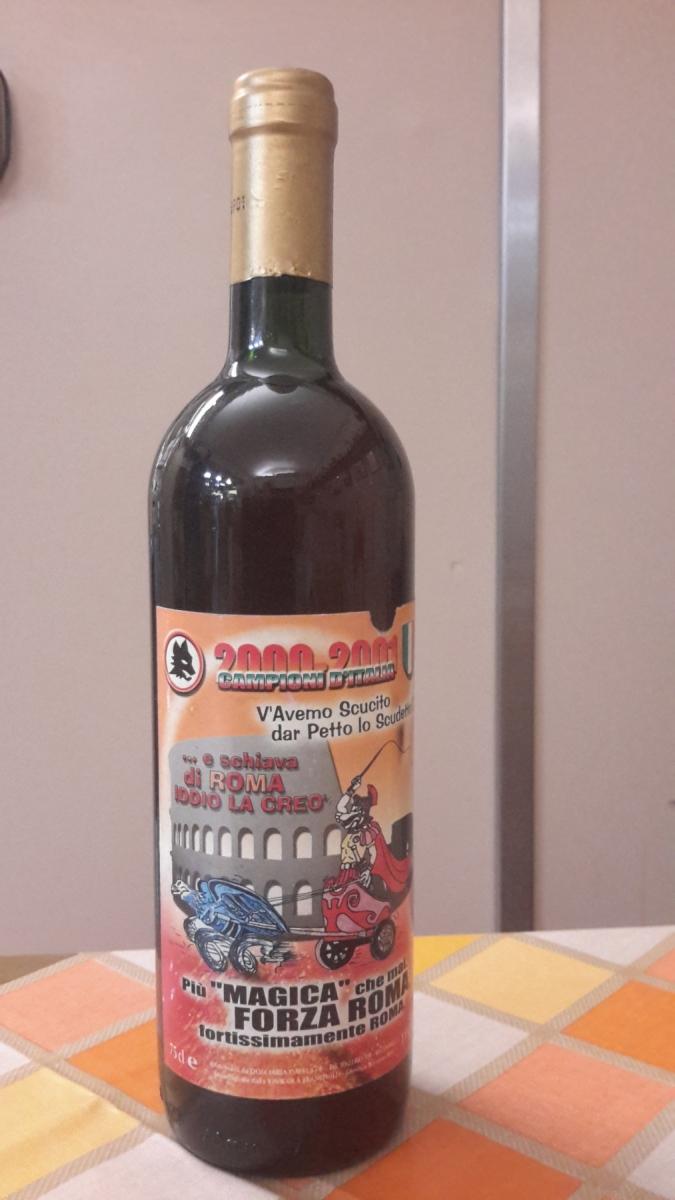 Bottiglia scudetto 2001