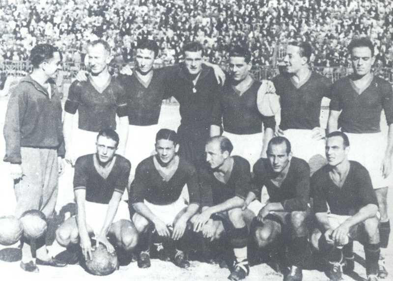 Campionato 1933/34, l'undici giallorosso di Roma-Lazio 5-0