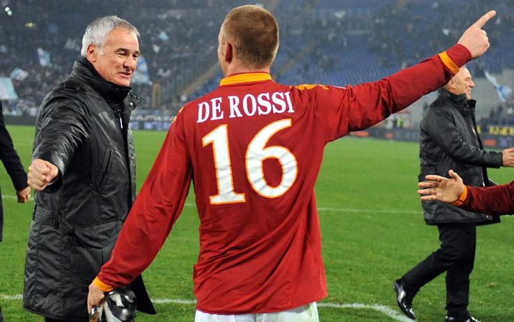 Claudio Ranieri con Daniele De Rossi